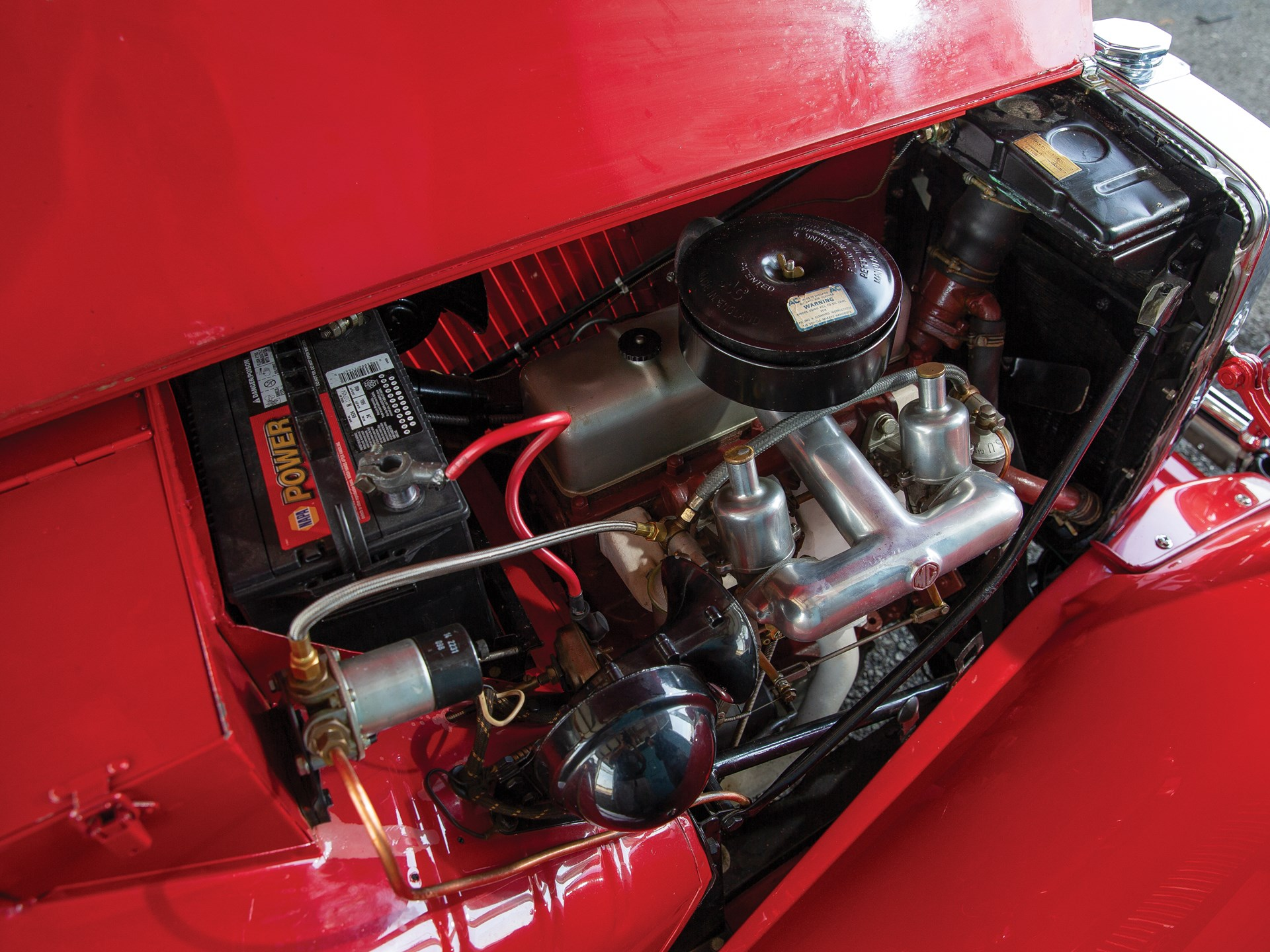 1952 MG TD engine intake carb
