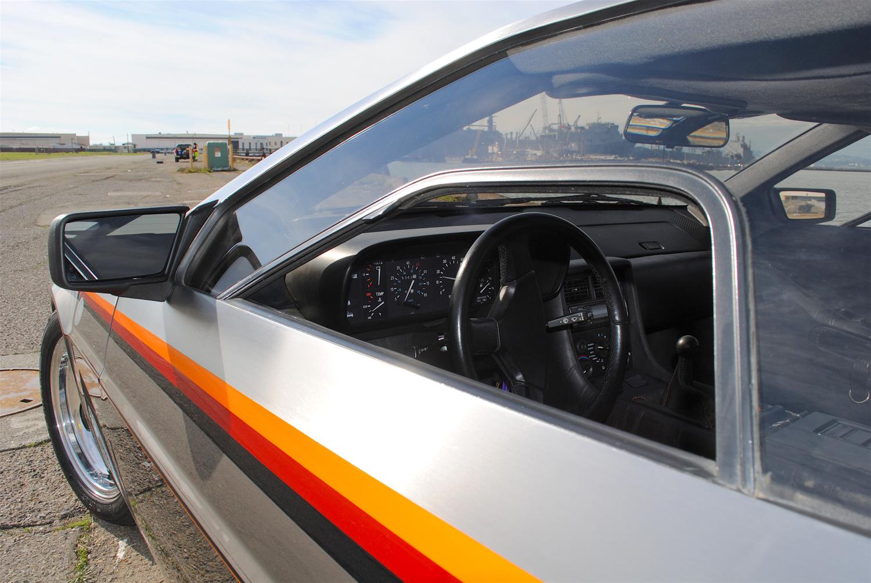 1981 DeLorean DMC-12 window slit interior