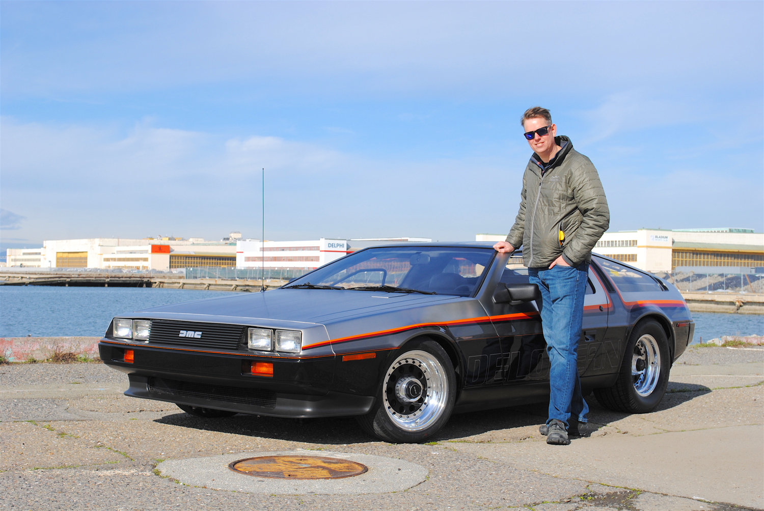 1981 DeLorean DMC-12 3/4 front with owner