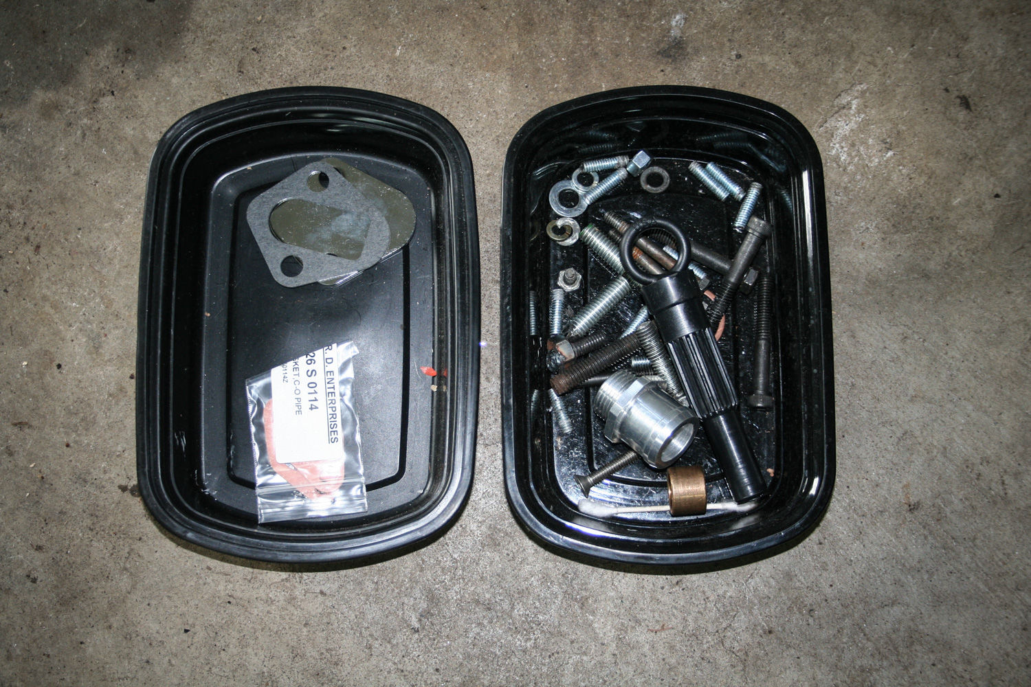 These little take-out trays see a lot of use in the garage.
