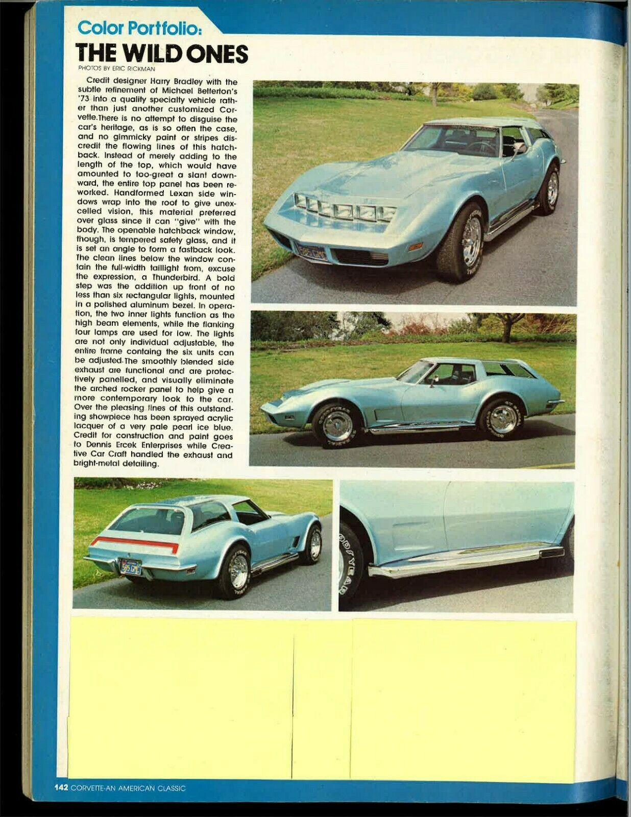 1973 Chevrolet Corvette Custom in Corvette magazine