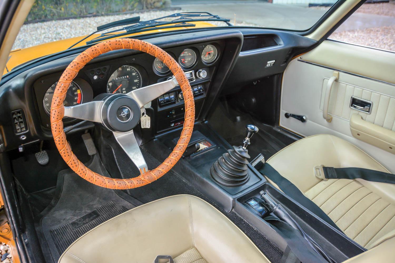 1971 Opel GT interior
