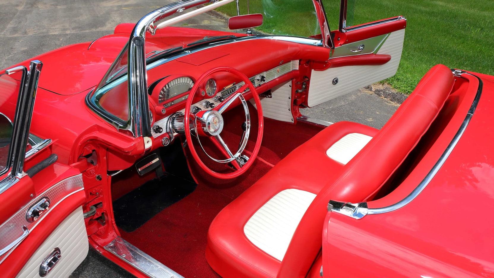 1956 Ford Thunderbird interior