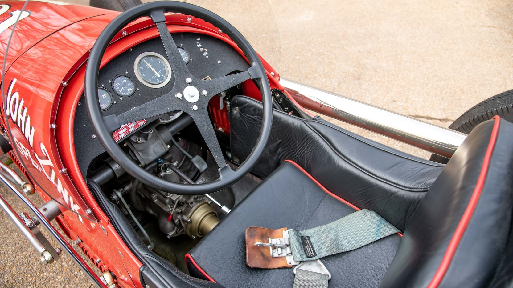 1952 Kurtis Kraft 4000 Indy Car interior