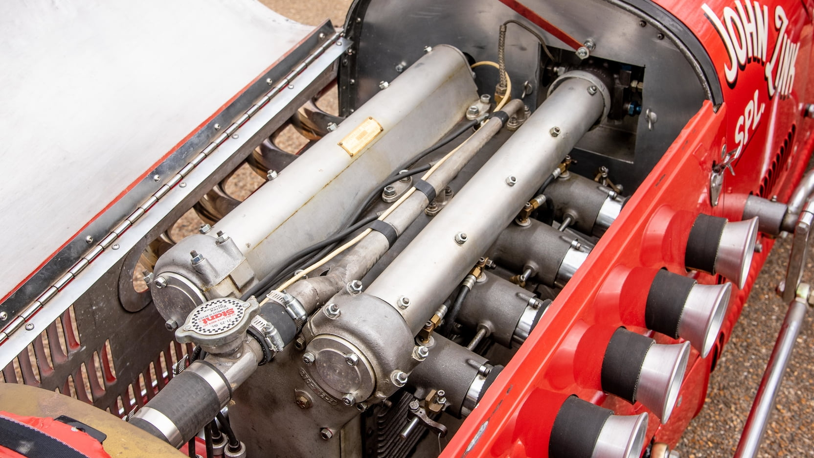 1952 Kurtis Kraft 4000 Indy Car engine intake