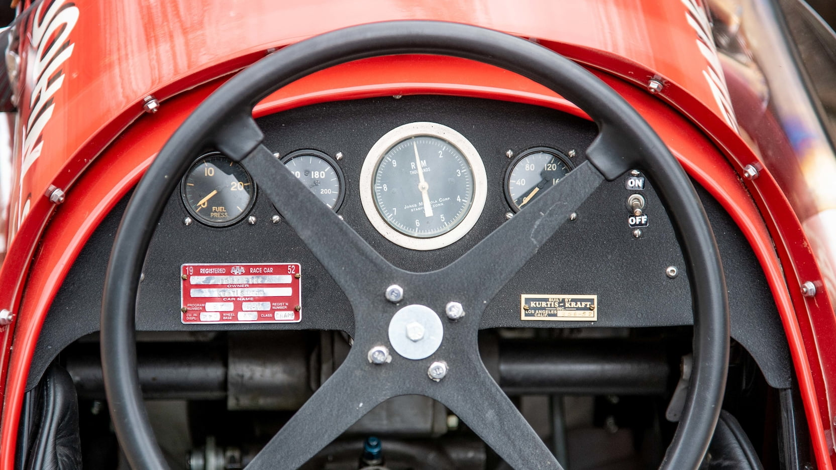 1952 Kurtis Kraft 4000 Indy Car gauges