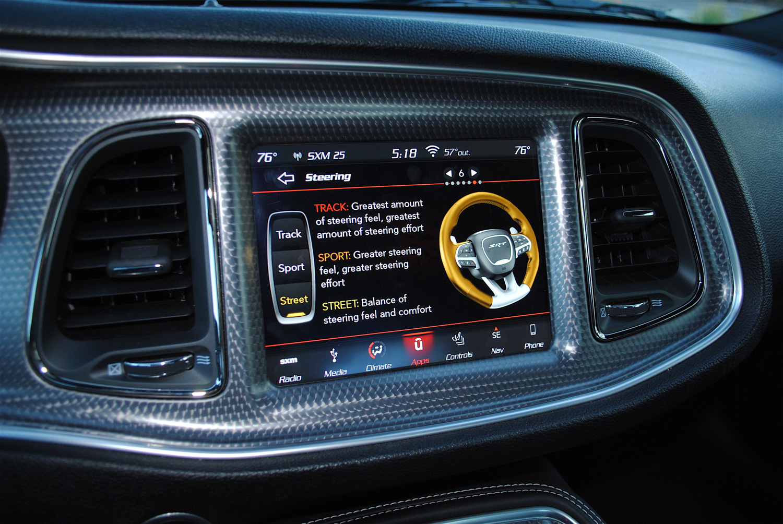 2019 Dodge Challenger SRT Hellcat Redeye interior screen