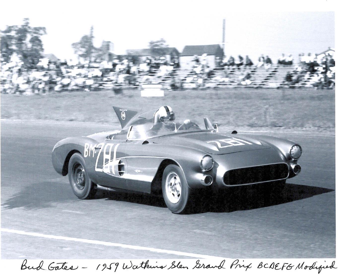 historic shot of the 1956 SR-2 racing