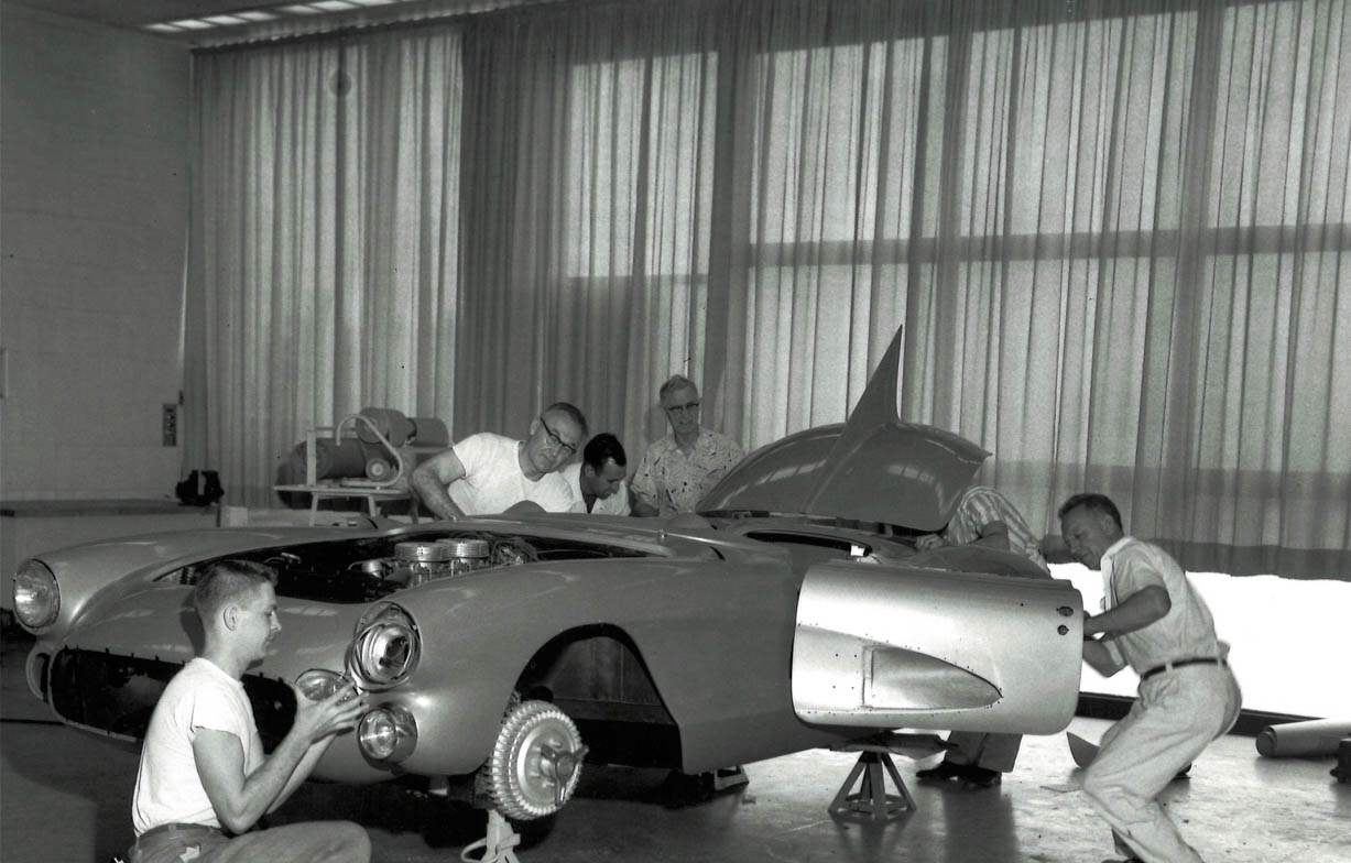 working on the 1956 SR-2