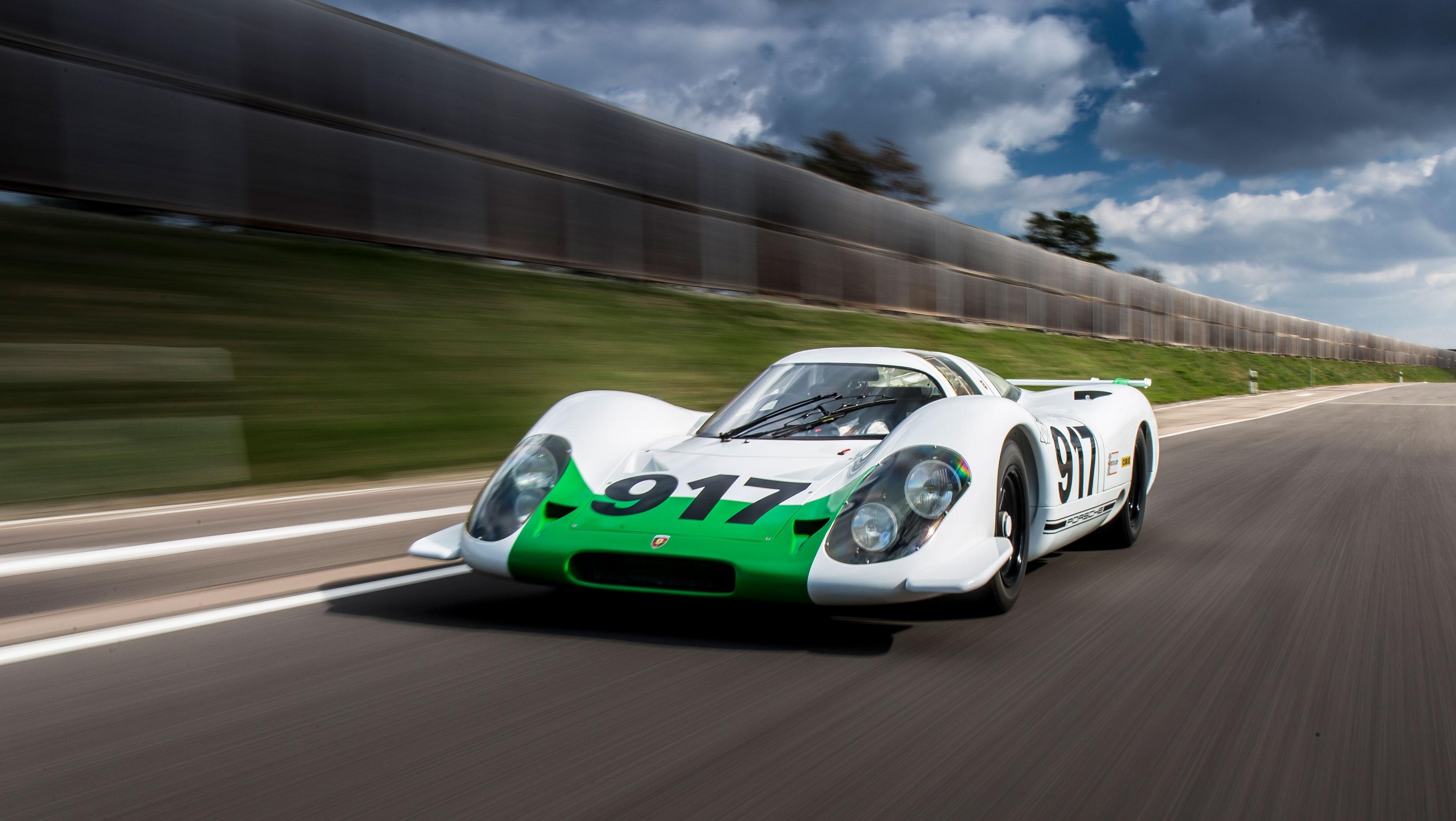 Porsche 917 driving