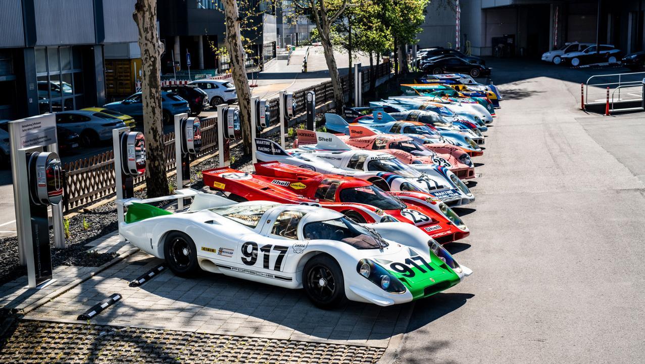 Porsche 917 at a Porsche meet up