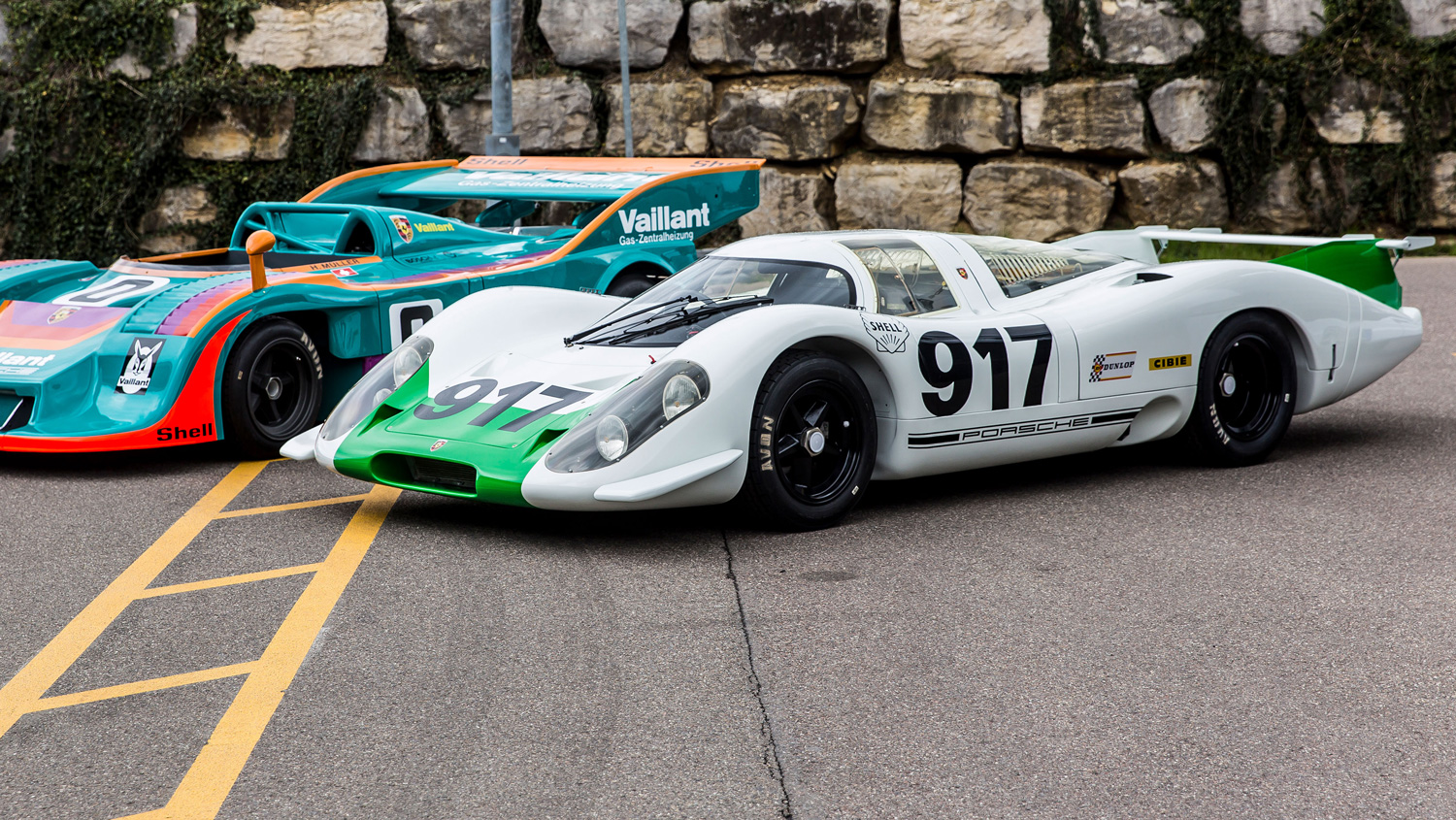 Porsche 917 cars and coffee