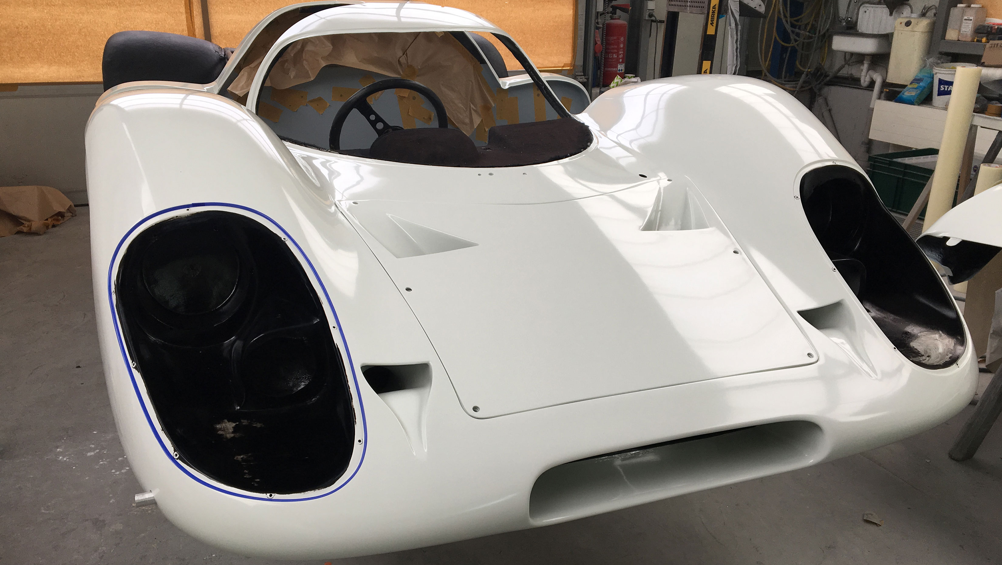 Porsche 917 front paint booth