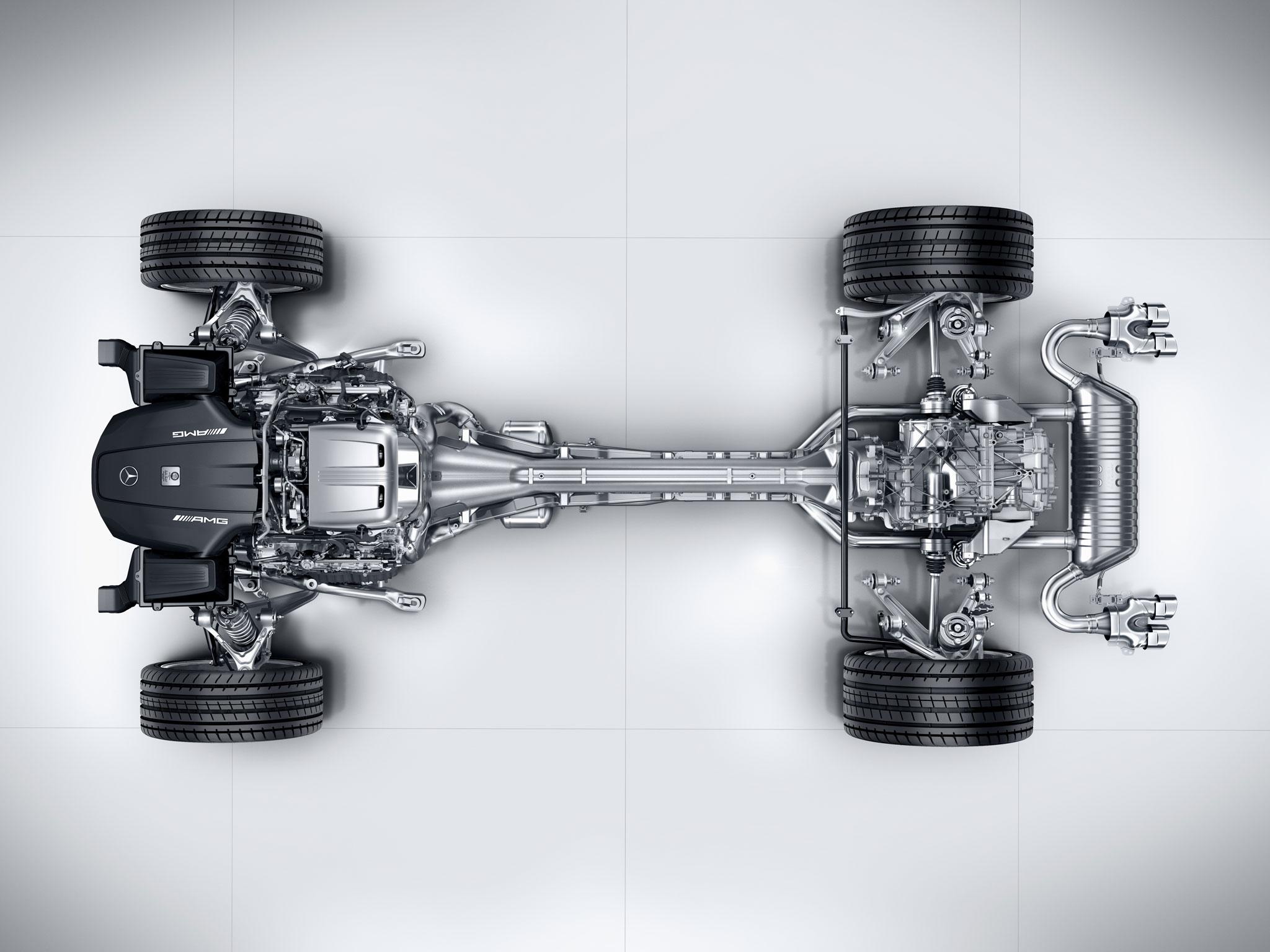AMG GT Drivetrain overhead