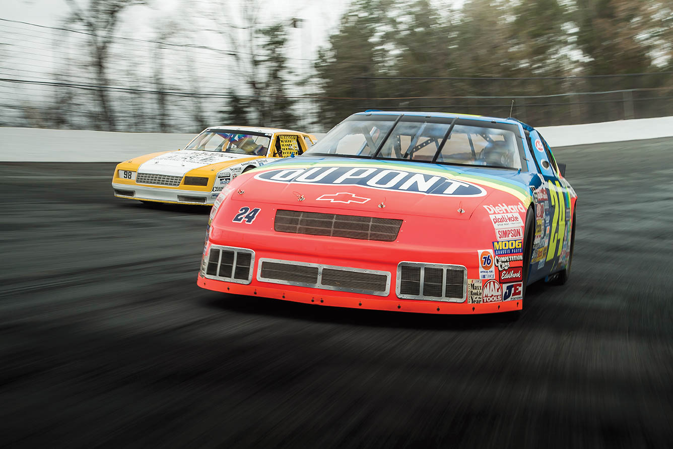 GM ignored NASCAR for most of the '60s, but when Ford and Chrysler pulled out at the end of 1969, Chevy's moment arrived. Here, the '84 Monte Carlo of Joe Ruttman paces the '94 Lumina of Jeff Gordon.