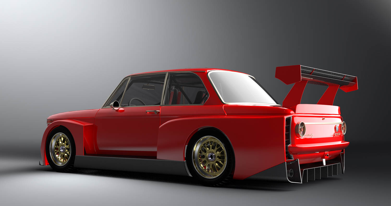 BMW 2002 rear 3/4
