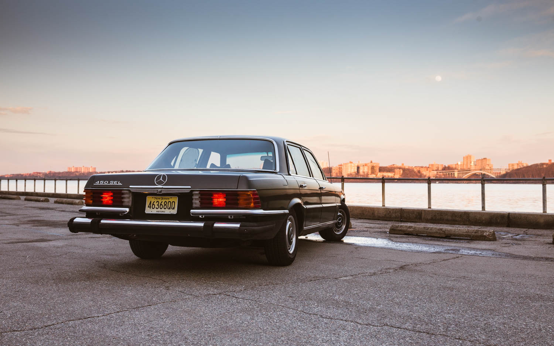 1974 Mercedes-Benz 450SEL at sunset