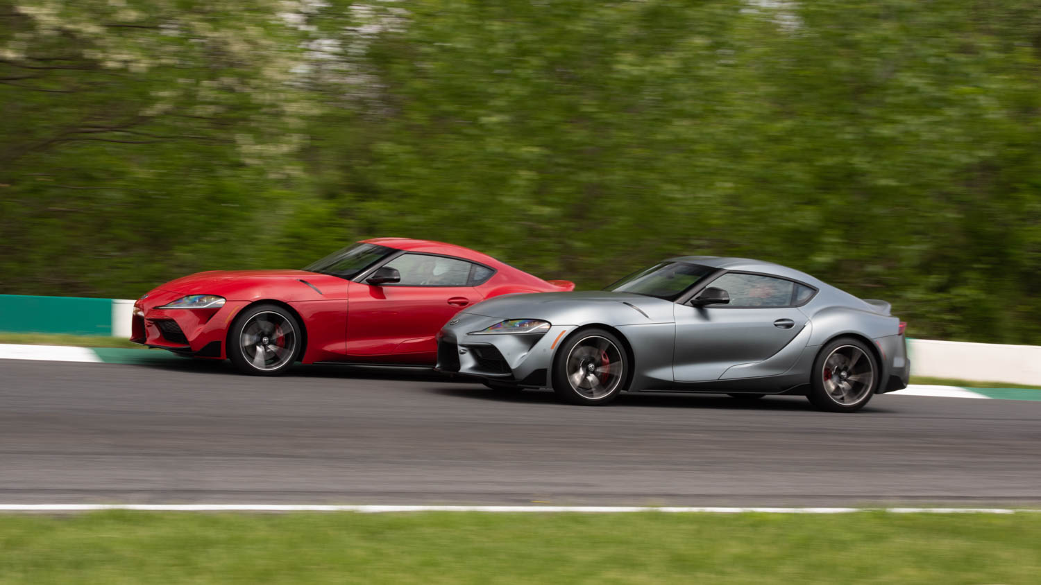 2020 Toyota Supra GR driving