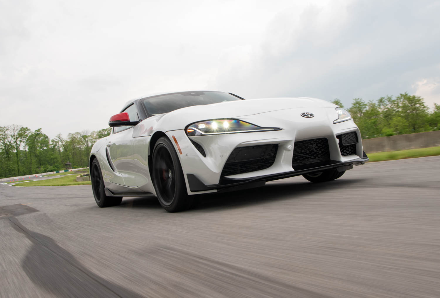 2020 Toyota Supra GR low front 3/4