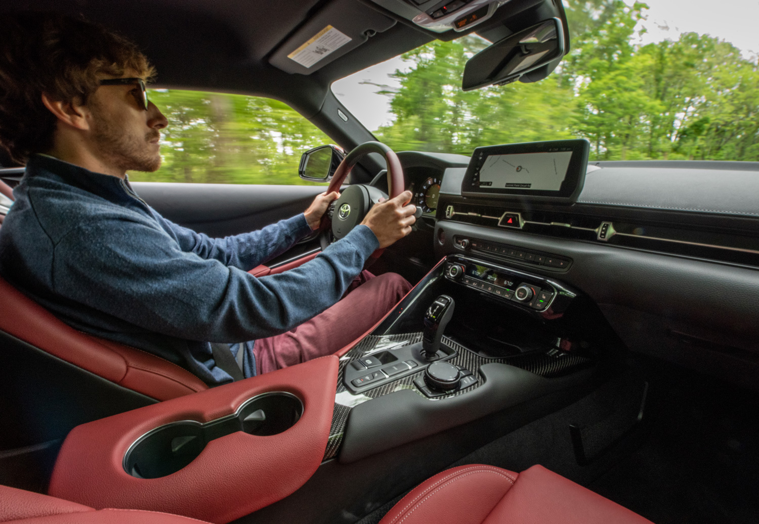 driving the 2020 Toyota Supra