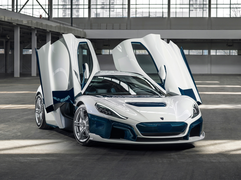 Rimac Automobili doors up