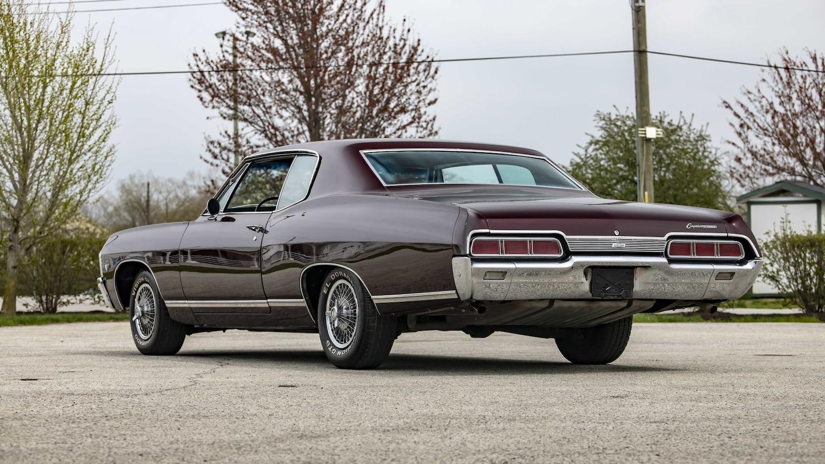 1967 Chevrolet Caprice rear 3/4