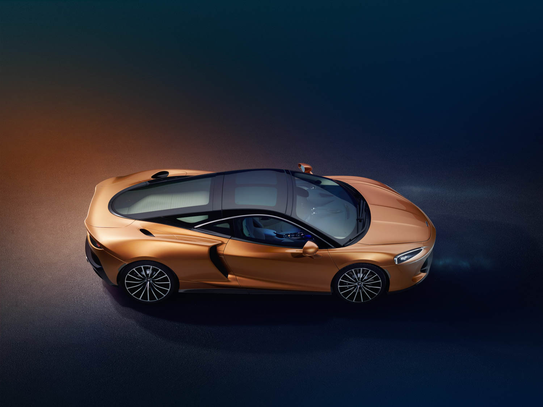 McLaren GT overhead profile