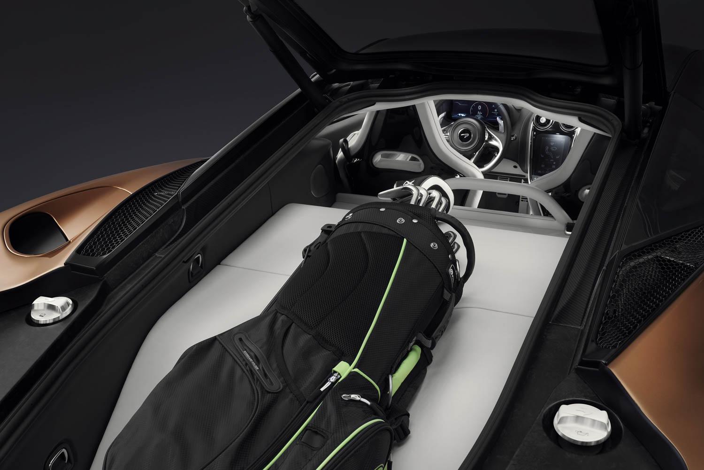 McLaren GT fits a pair of golf clubs
