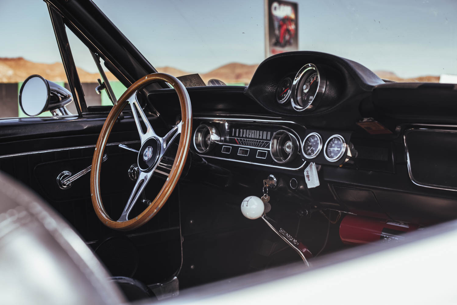 1965 Ford Mustang Shelby GT350 steering wheel