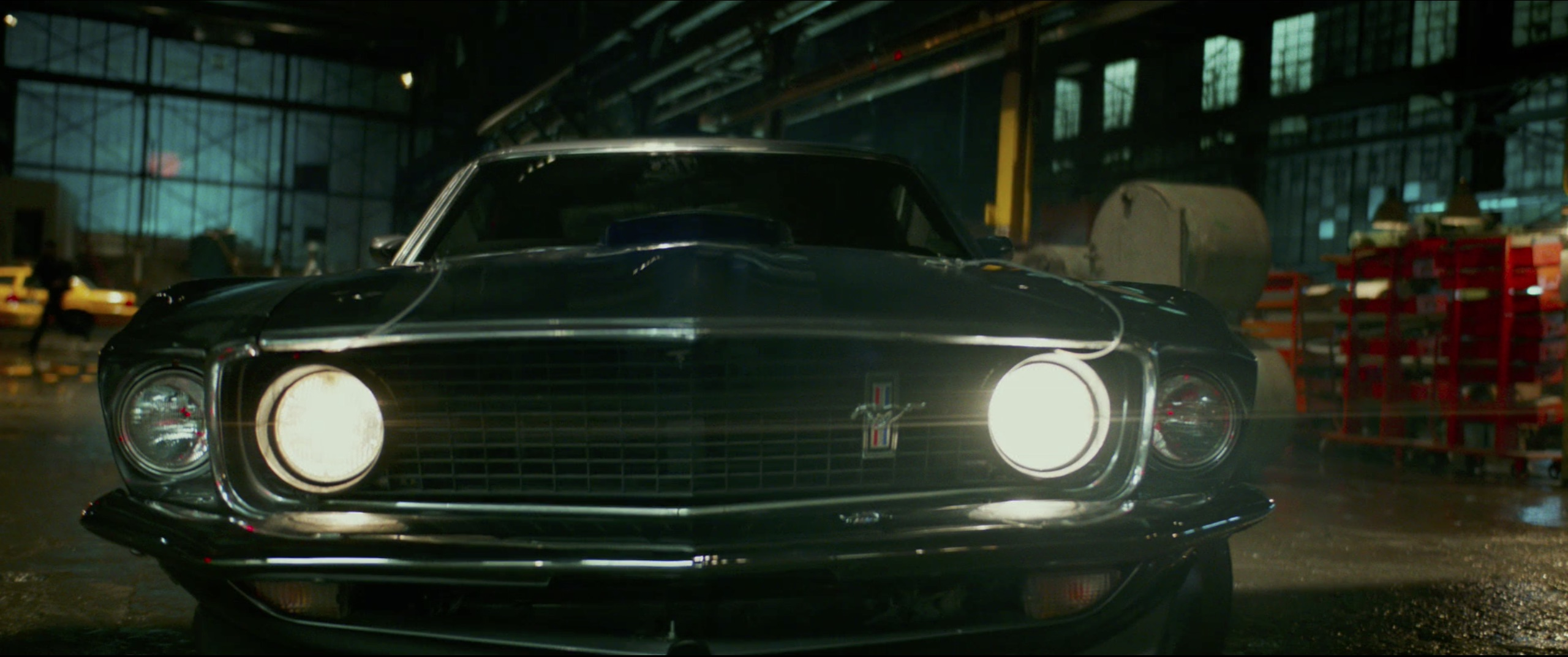 John Wick: Chapter 2 front of 1969 Ford Mustang