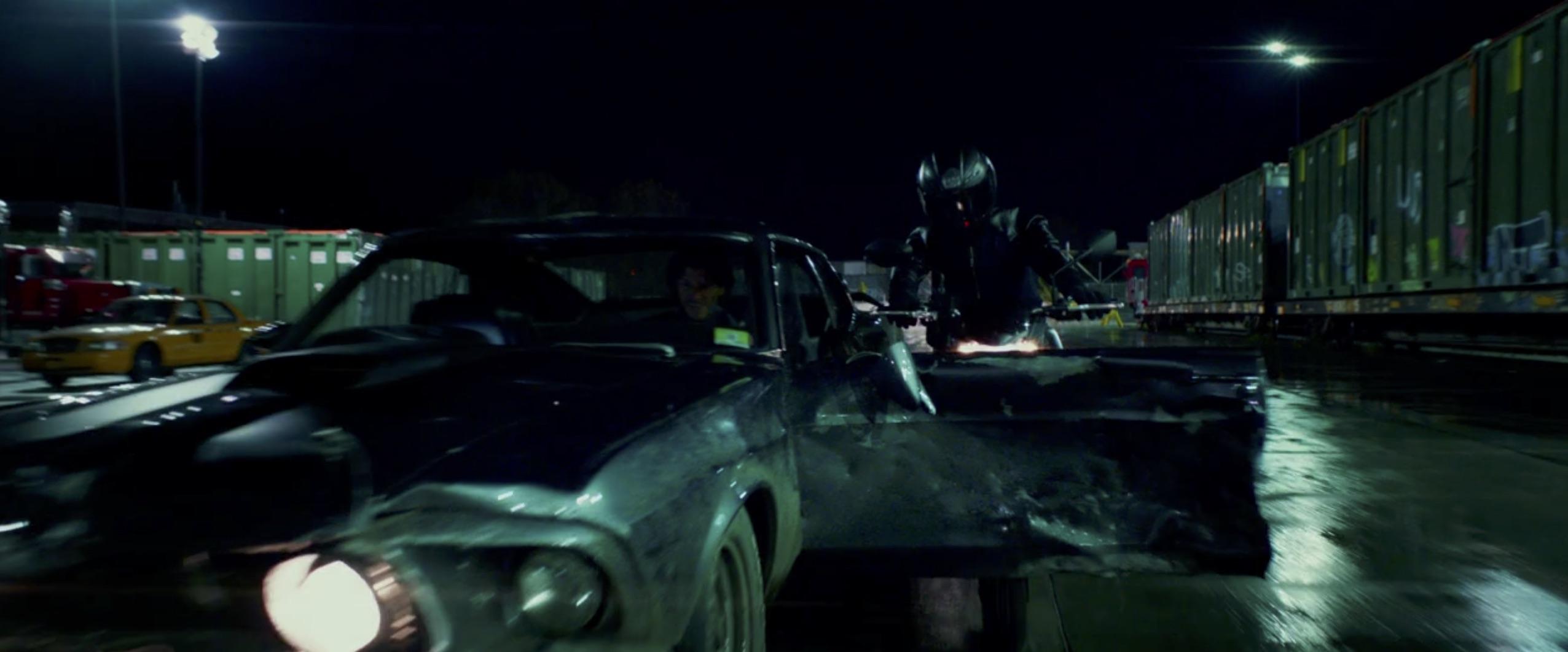 John Wick: Chapter 2 mustang crash
