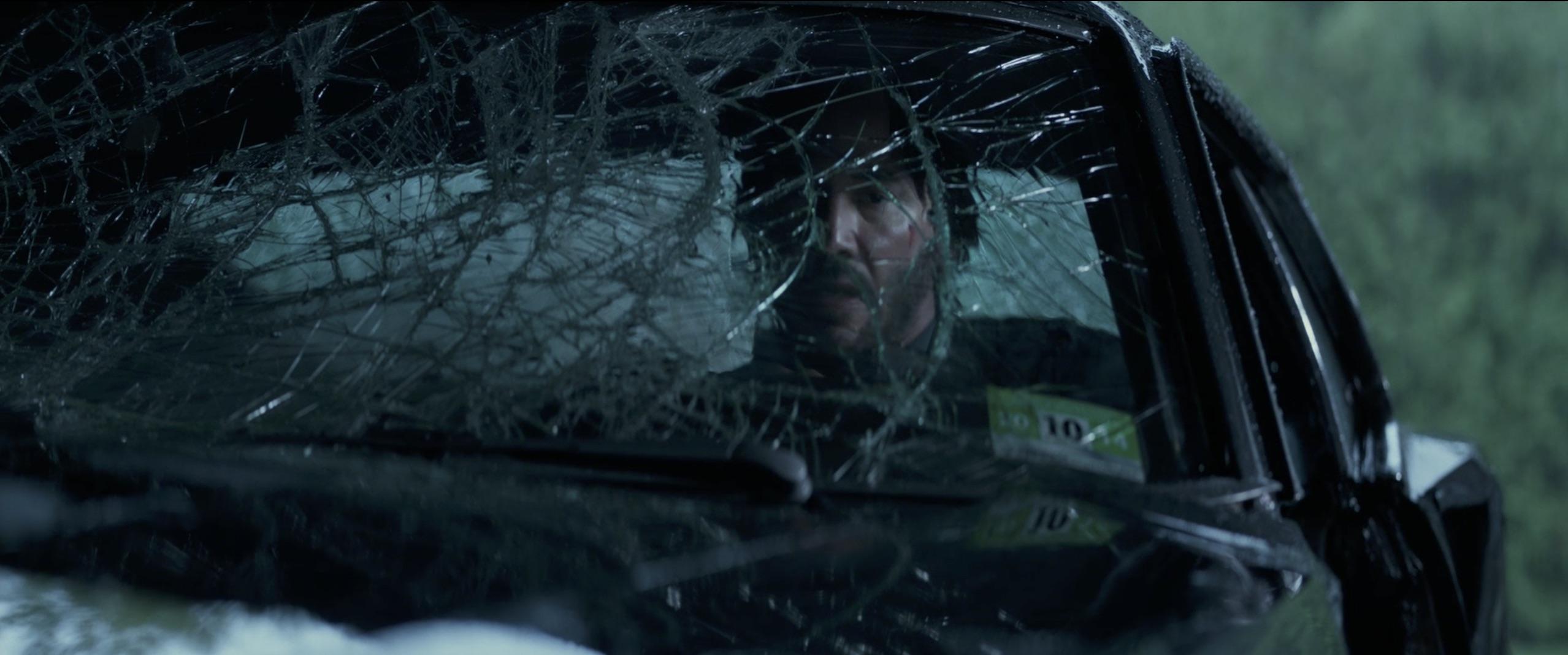 John Wick: Chapter 2 broken windshield