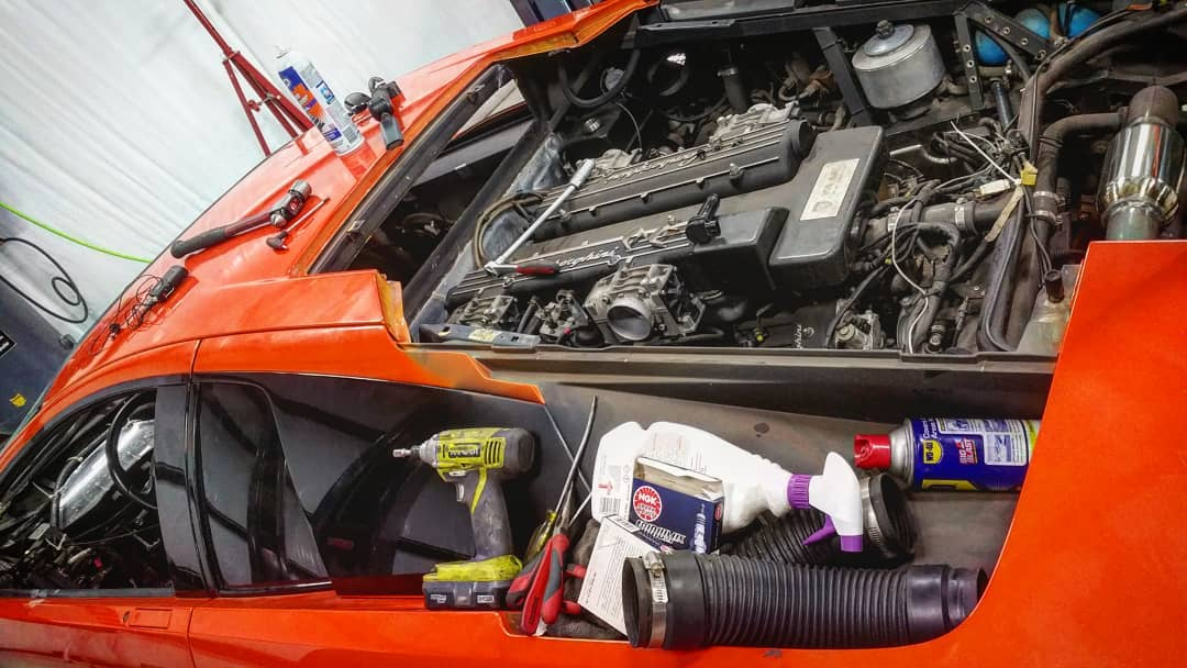 Lamborghini Murcielago engine work
