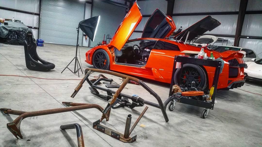 Lamborghini Murcielago work being done