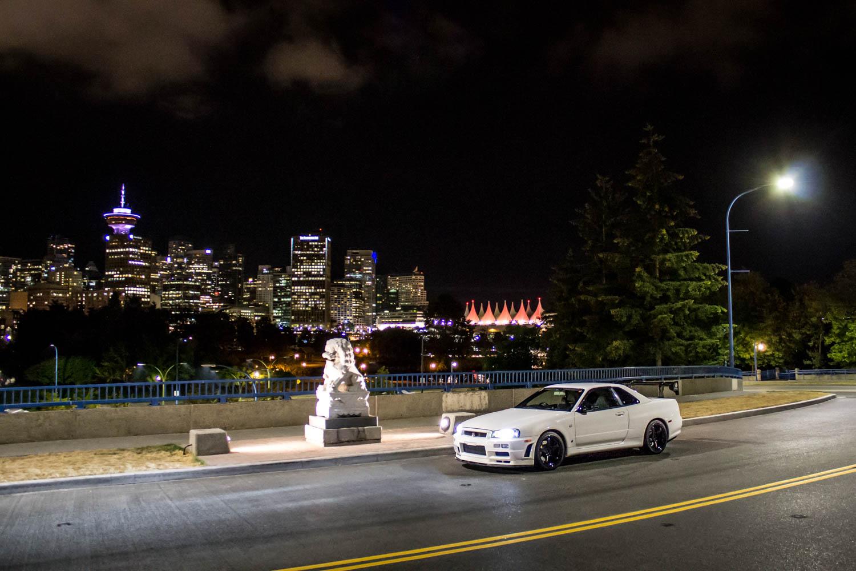 Nissan Skyline R34 GT-R skyline backdrop