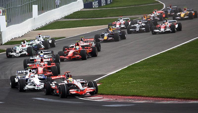 Canadian Grand Prix turn 1 lap 1