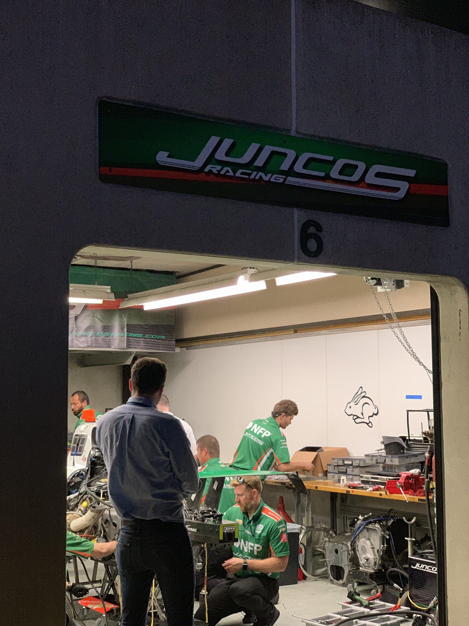 Indy 500 Juncos Racing paddock