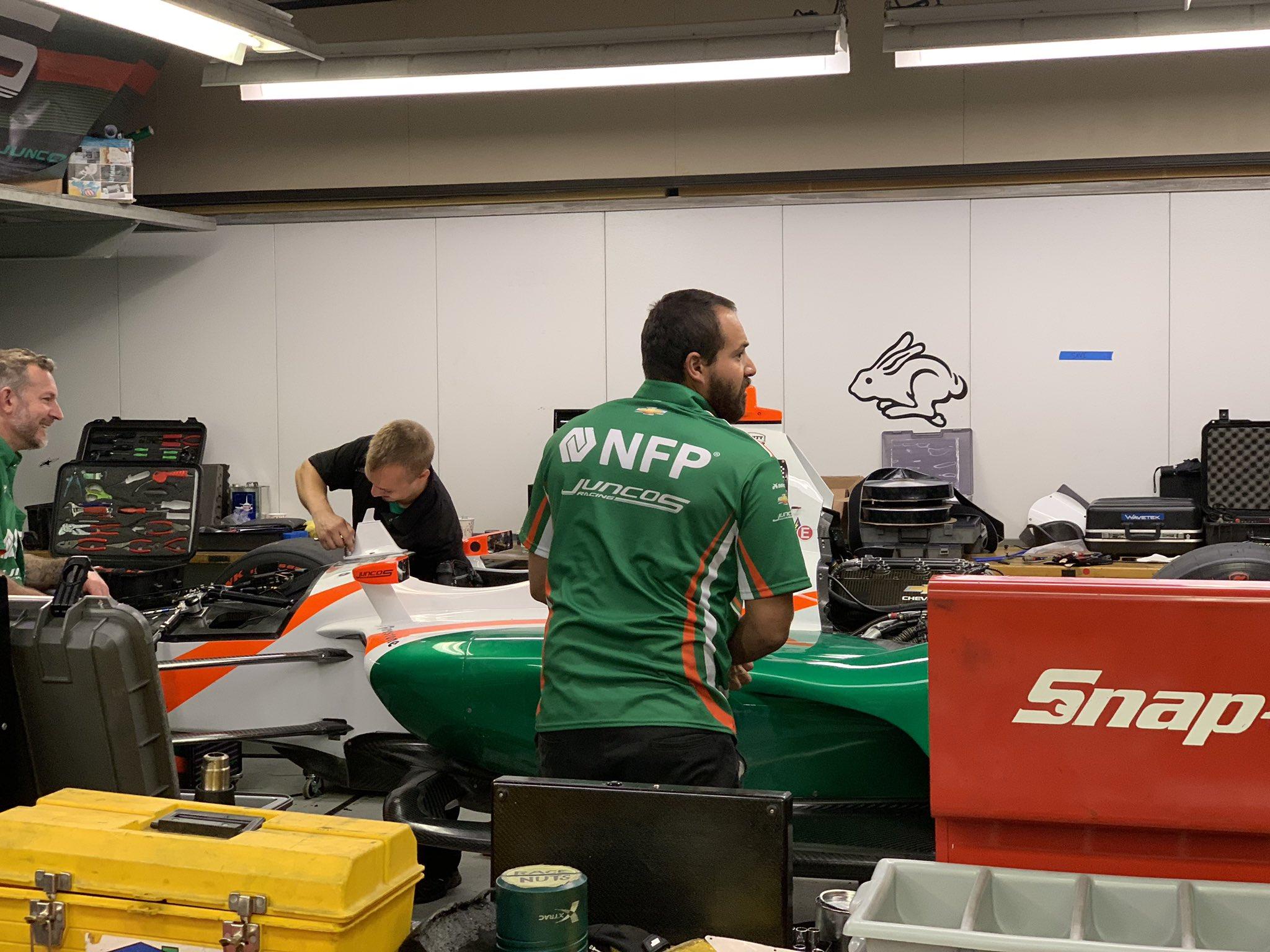 Juncos Racing in the paddock