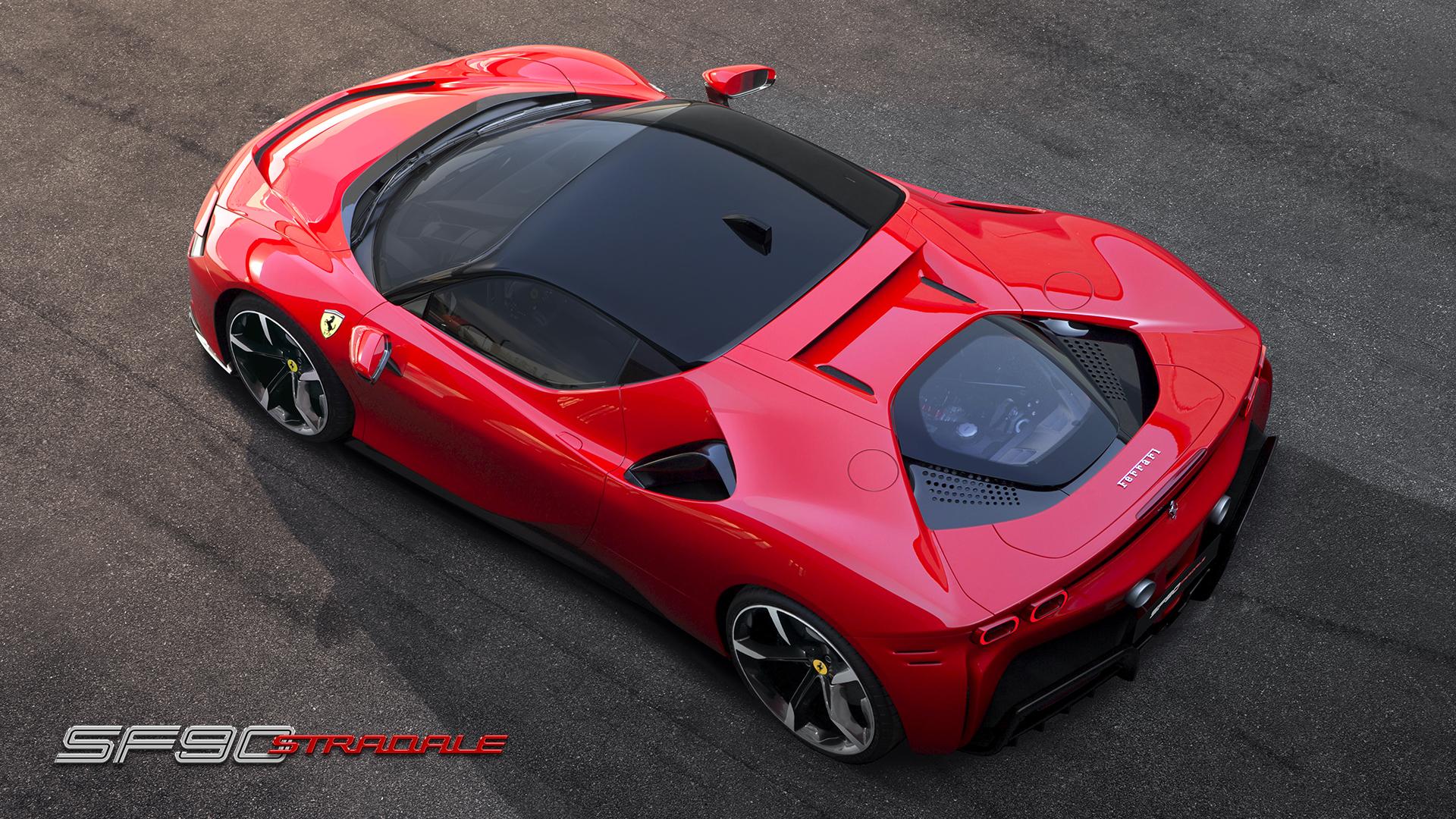 Ferrari SF90 Stradale overhead
