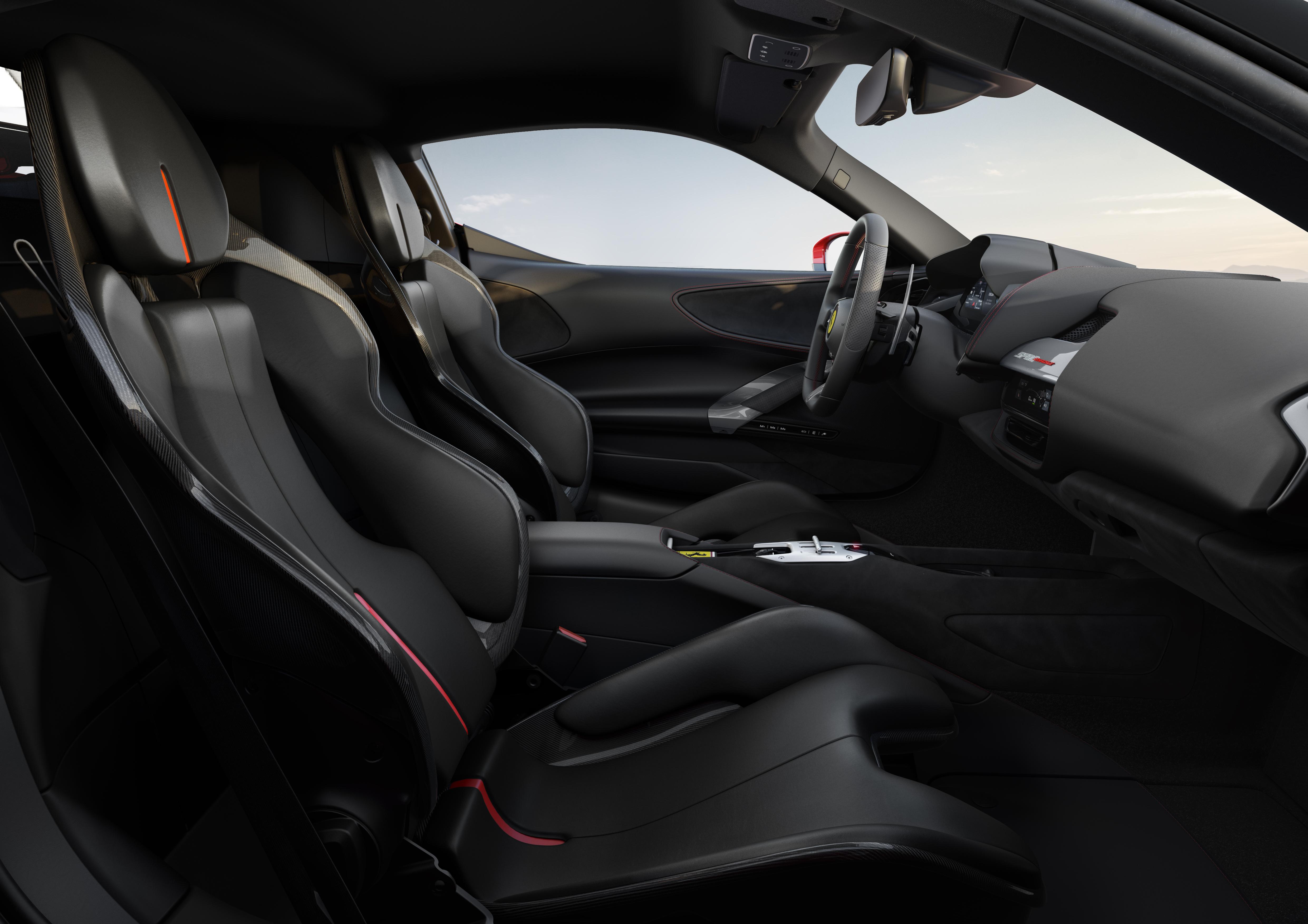 Ferrari SF90 Stradale seat detail