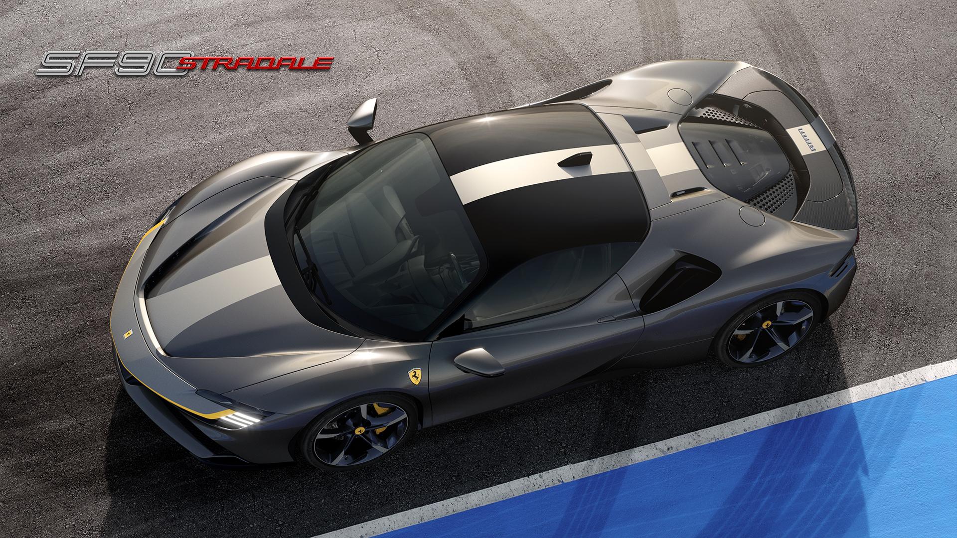 grey Ferrari SF90 Stradale
