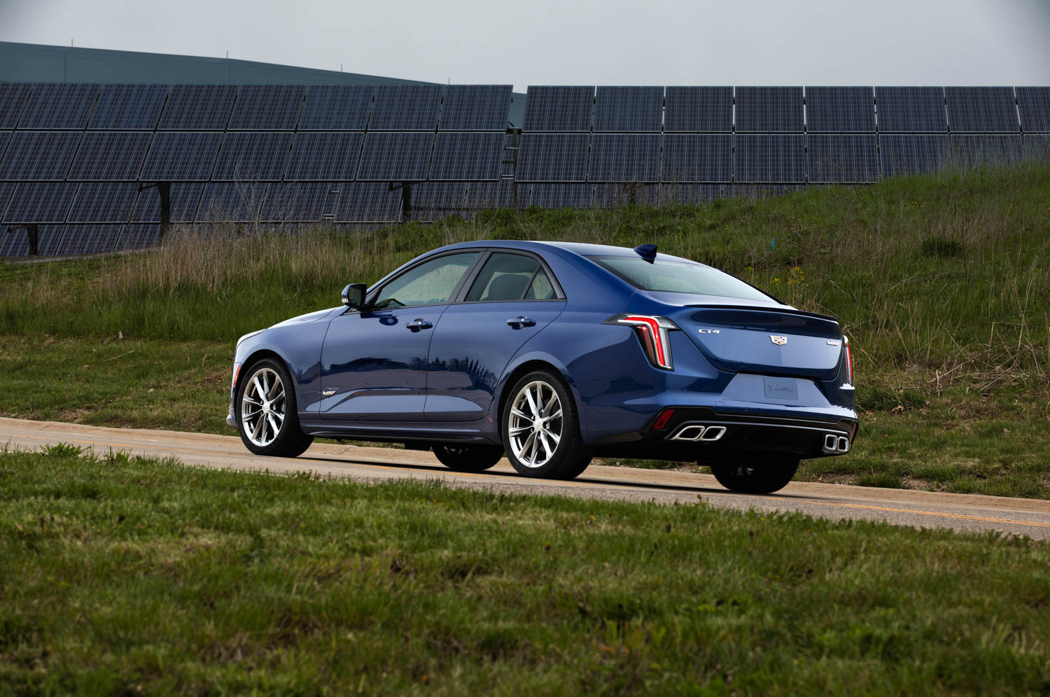 2020 Cadillac CT4-V rear 3/4 driving