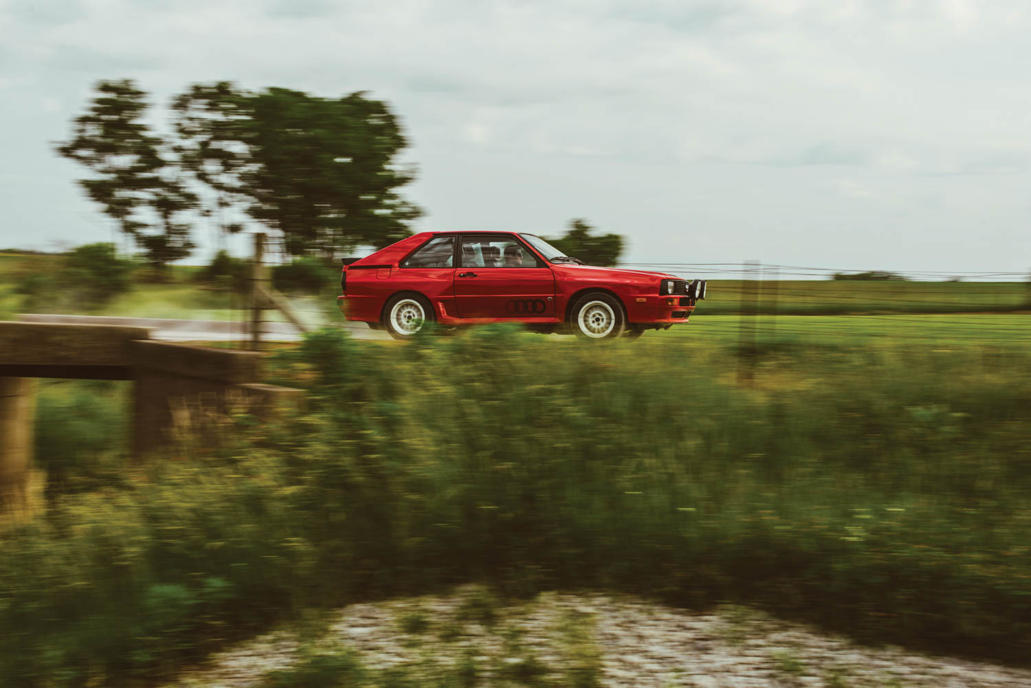 Kettler let me take the hallowed Sport Quattro from its parking place in a barn straight onto winding country roads. Turbo lag is immense, but once the boost is on, it feels like you're on the business end of a torpedo.