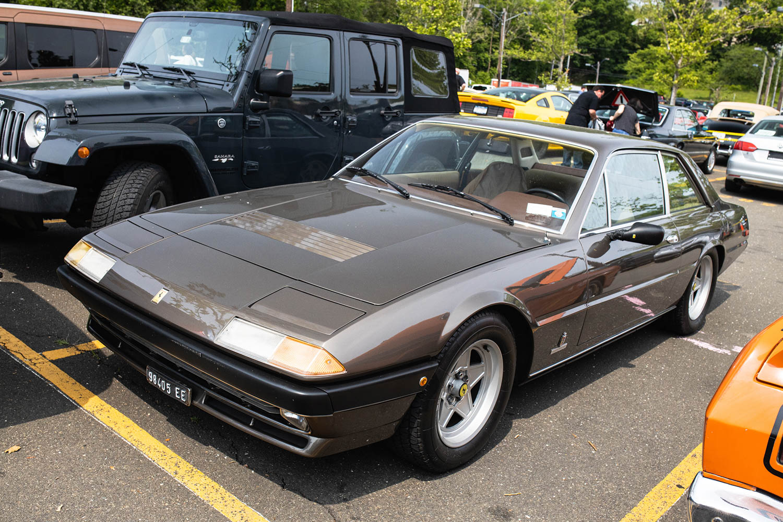 Greenwich Concours parking lot Ferrari