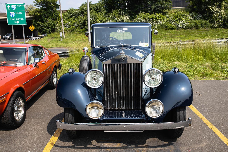 Greenwich Concours parking lot Rolls-Royce