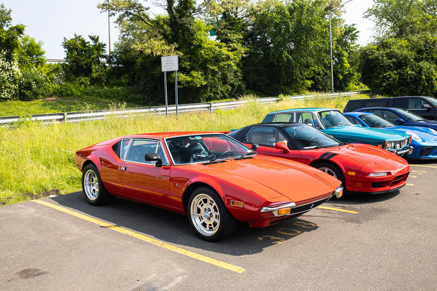 Greenwich Concours parking lot