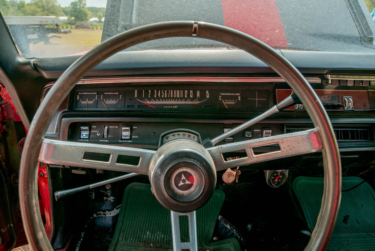 1969 Plymouth GTX steering wheel