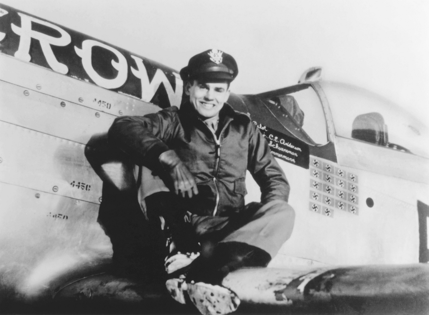 Young Bud Anderson P-51 Mustang