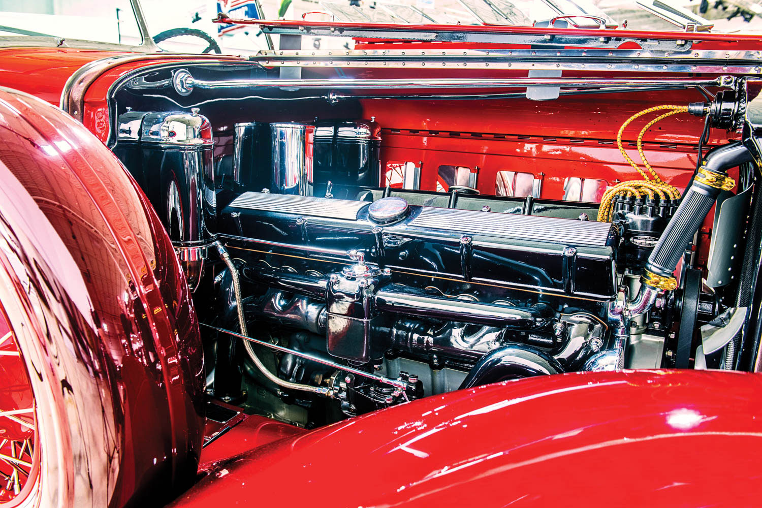 Cadillac V-16 Engine Sideview