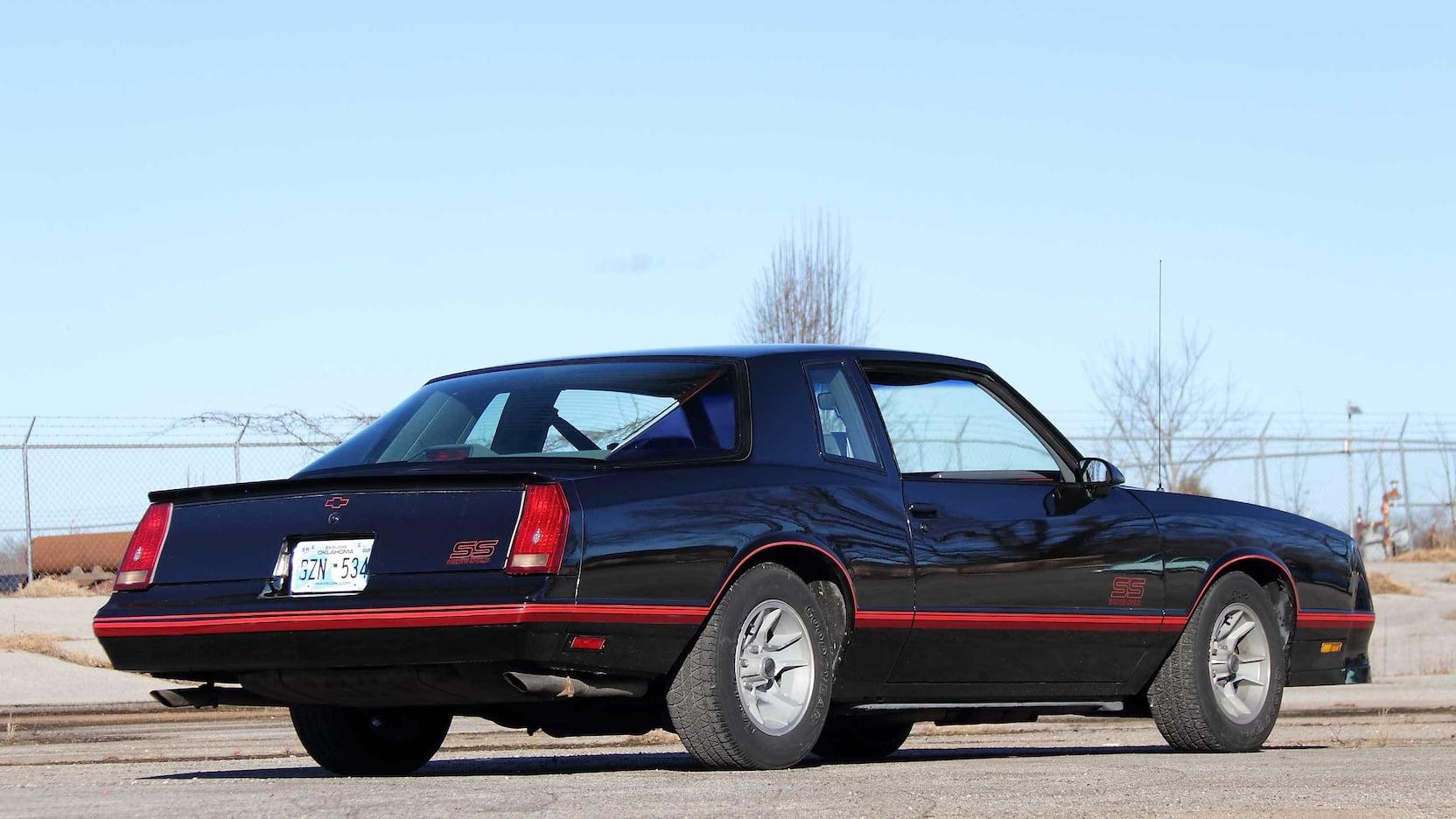 1987 Chevrolet Monte Carlo SS rear 3/4
